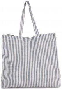 Gestreifte Shoppingtasche aus Juco
