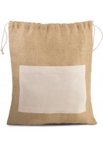 Tasche aus Jutestoff mit Kordel