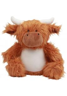 Plüschtier Kuh mit Reißverschluss