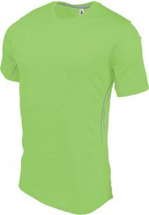Herren Kurzarm Sport-T-Shirt. Bi-Material