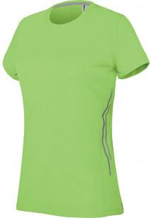 Damen Kurzarm Sport-T-Shirt. Bi-Material