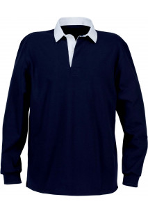 Men's Rugby Polo Herren-Rugby-Polohemd mit uni wei