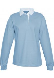 Ladies Rugby PoloDamen-Rugby-Poloshirt, Kragen uni weiß