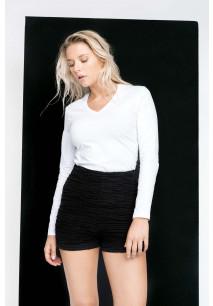 Damen Langarmshirt V-Ausschnitt