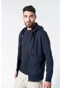 Herren Kapuzensweatshirt BIO-BAUMWOLLE mit Reißverschluss