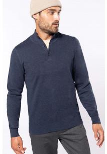 Premium-Pullover mit geknöpftem Ausschnitt