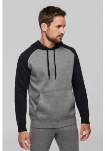Zweifarbiges Kapuzensweatshirt für Erwachsene