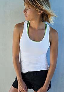 ärmelloses Damen-fitness-Shirt