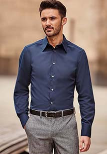 Men's Long Sleeve Tencel Fitted Shirt
