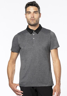 Zweifarbiges Jersey-Polohemd für Herren