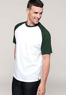 Baseball-Shirt, zweifarbig