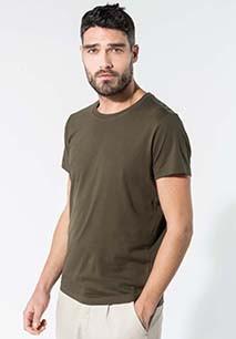 Herren T-Shirt mit Rundhalsausschnitt. BIO-Baumwolle