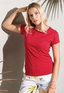Damen T-Shirt mit Rundhalsausschnitt. BIO-Baumwolle