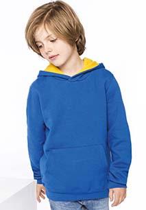 Kinder Kapuzenshirt Bicolor