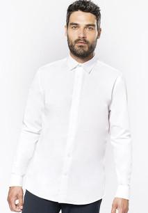 Langärmeliges Popeline-Herrenhemd