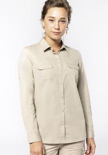 Langarm-Safarihemd für Damen