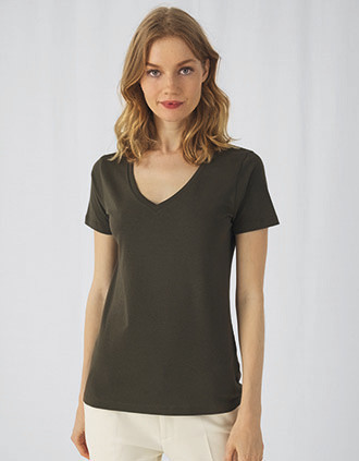 Ladies' Organic Inspire Cotton V-neck T-shirt