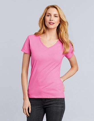Premium Damen T-Shirt, V-Ausschnitt