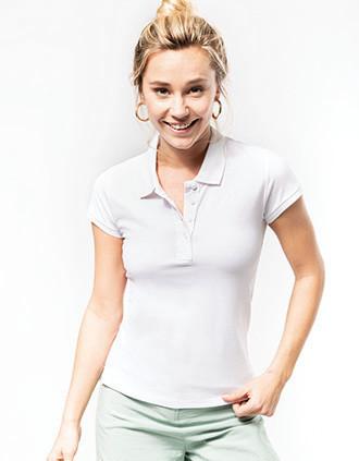 Damen Kurzarm Piqué Poloshirt Bio-Baumwolle