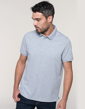 Kurzarm-Polohemd für Herren mit Druckknopfleiste am Kragen