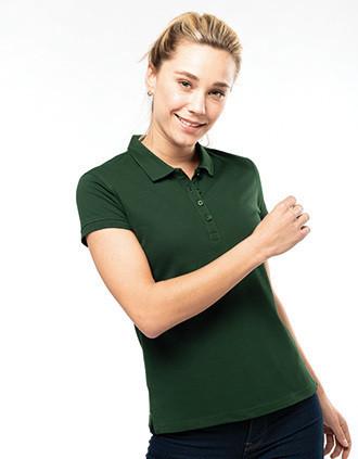 Damen Kurzarm-Poloshirt. Baumwollpiqué.