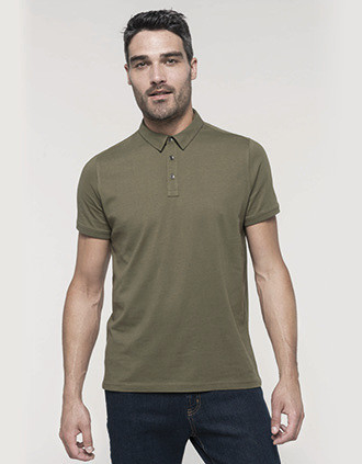 Jersey-Kurzarm-Polohemd für Herren