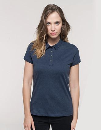 Jersey-Kurzarm-Polohemd für Damen
