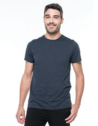 Herren-T-Shirt Supima® mit kurzen Ärmeln und Rundhalsausschnitt
