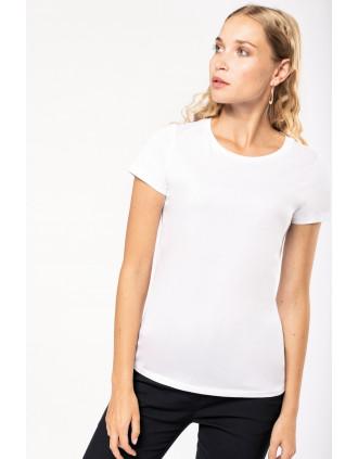 Damen-T-Shirt Supima® mit kurzen Ärmeln und Rundhalsausschnitt
