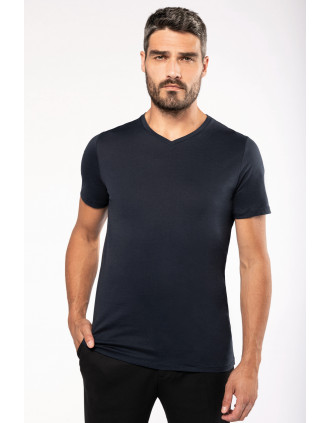 Herren-T-Shirt Supima® mit V-Ausschnitt und kurzen Ärmeln