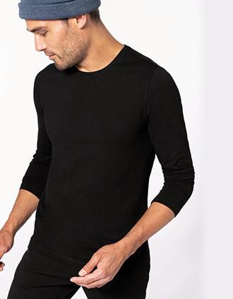 Langarm-T-Shirt mit Rundhalsausschnitt