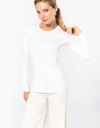 Damen Langarm-T-Shirt mit Rundhalsausschnitt