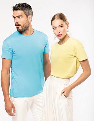 T-Shirt mit Rundhalsausschnitt Bio190