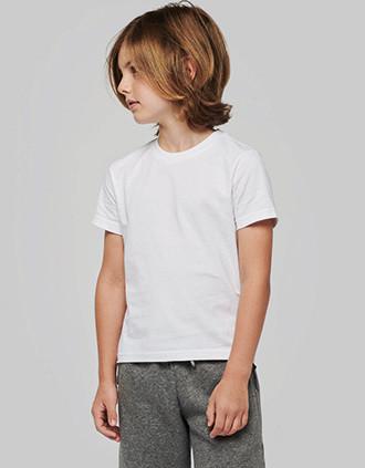 Kinder T-Shirt mit Rundhalsausschnitt