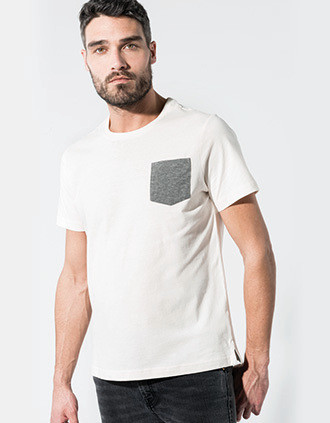 T-Shirt aus Bio-Baumwolle mit Brusttasche