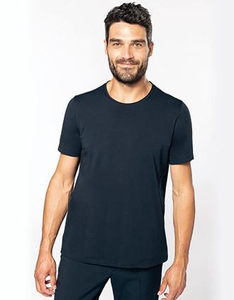 Bio-T-Shirt mit kurzen Ärmeln und ungesäumten Halsausschnitt