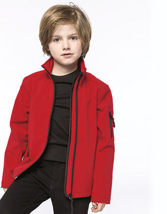 Kinder Softshell-Jacke