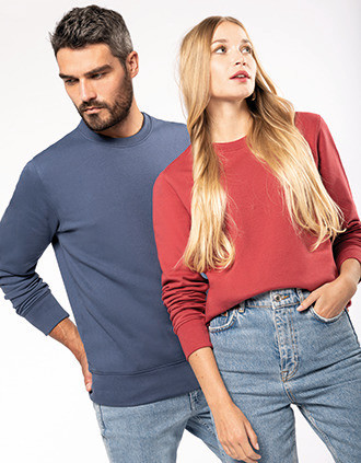 Umweltfreundliches Sweatshirt mit Rundhalsausschnitt