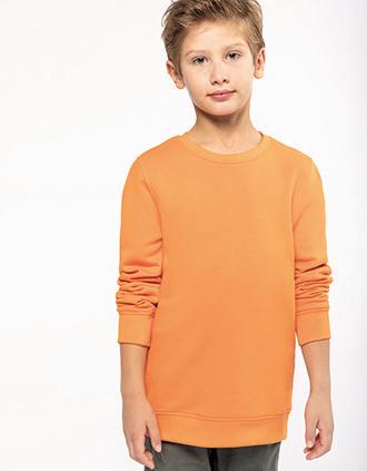 Umweltfreundliches Sweatshirt mit Rundhalsausschnitt für Kinder