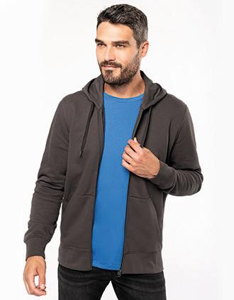 Umweltfreundliches Kapuzensweatshirt mit Reißverschluss Herren