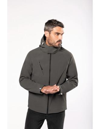 Herren Softshell-Jacke mit Abnehmbare Kapuze
