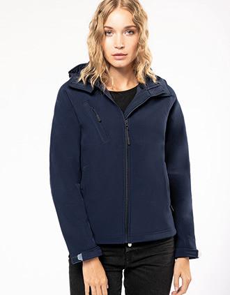 Damen Softshell-Jacke mit Abnehmbare Kapuze