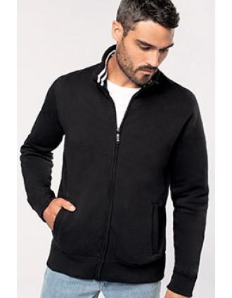 Herren Fleece-Sweater mit Reißverschluss