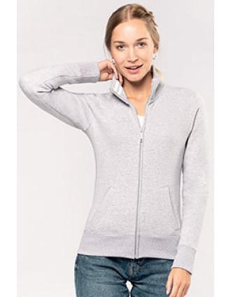 Damen Fleece-Sweater mit Zip