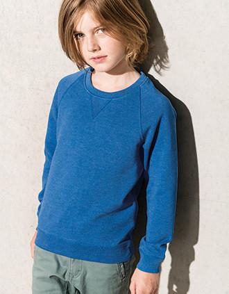 Bio-Sweatshirt für Kinder mit Raglanärmeln