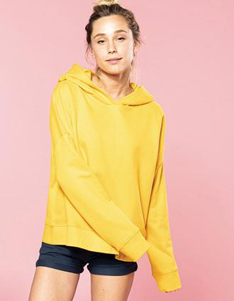 Bio-Damen-Sweatshirt Lounge mit Kapuze