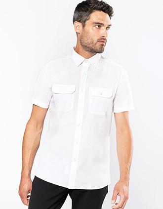 Kurzarm-Pilotenhemd für Herren