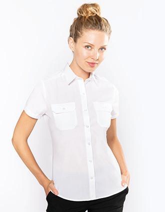 Kurzarm-Pilotenhemd für Damen
