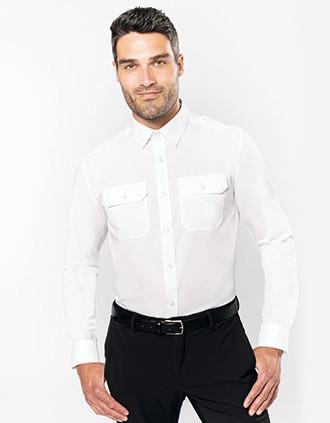 Langarm-Pilotenhemd für Herren
