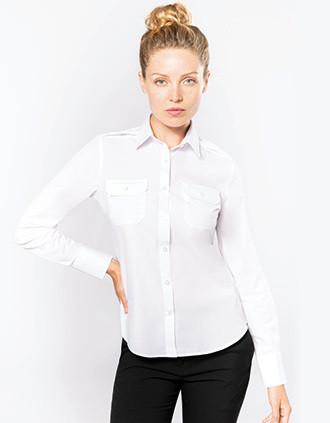 Langarm-Pilotenhemd für Damen